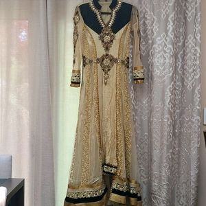 Women's Indian Velvet Embroidered Tunic Anarkali